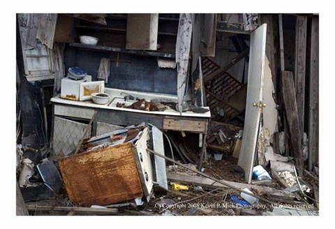 Destroyed kitchen in Lower 9 house