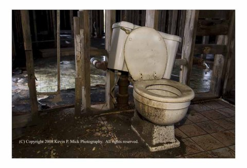Toilet in Lower 9th Ward house