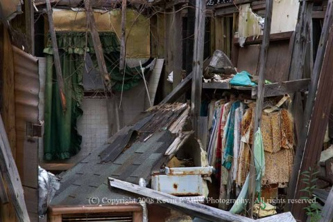 New Orleans 9th Ward bedroom post Hurricane Katrina
