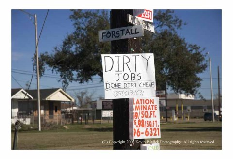 Upper 9 Dirty Jobs advertisement