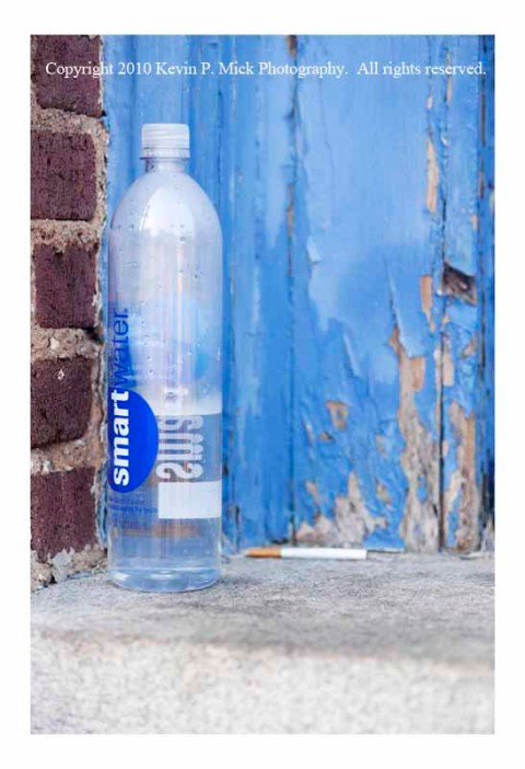 Smart Water bottle on step