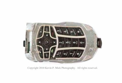 Broken grey cell phone