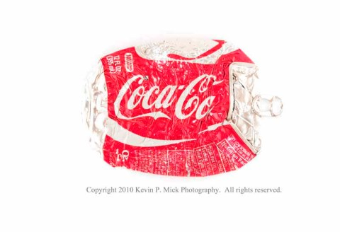 Crushed Coca-Cola can