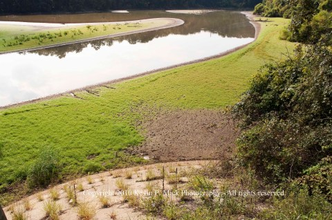 Maryland reservoir under drought conditions