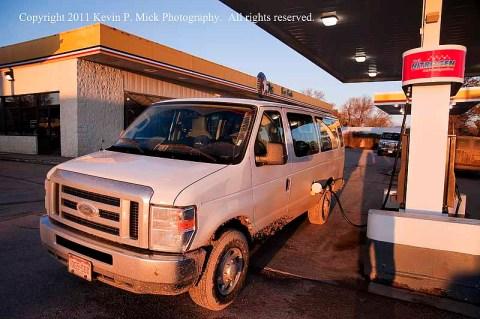 15 passenger Ford Van