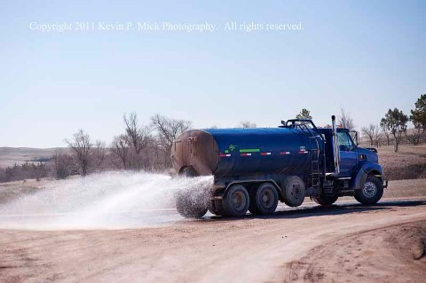 Spraying Route 33 Pine Ridge