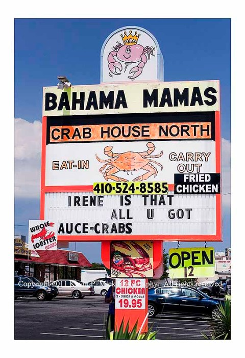 Bahama Mamas' comment on Hurricane Irene