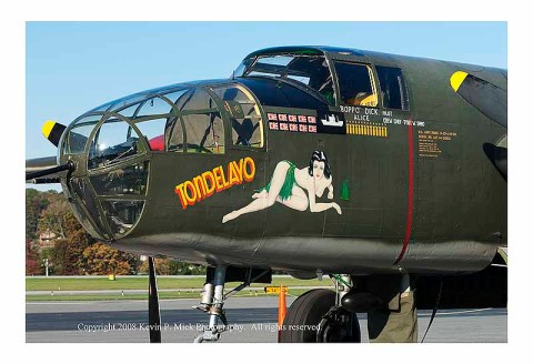 Collings Foundation b-25 Mitchell nose art