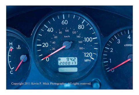 200,000 miles on the car's odometer