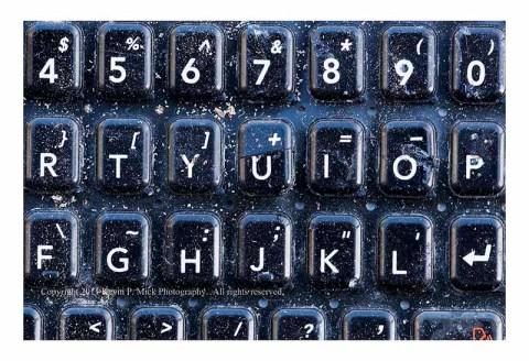 Closeup of a cell phone keypad