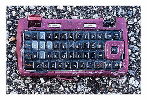 Full view of broken cell phone