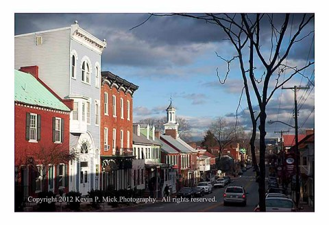 Shepherdstown Opera House looking down German Street