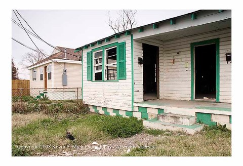 Rebuilt and rebuilding houses in the Lower 9th Ward NOLA