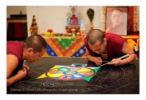 Monks at work on the Mandala