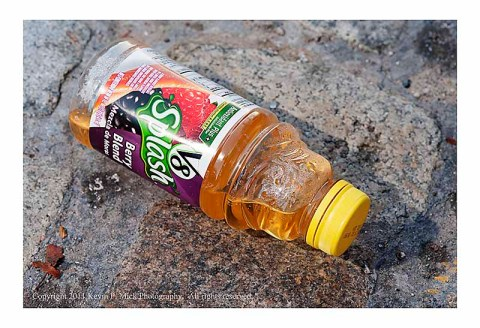 Juice bottle in the street
