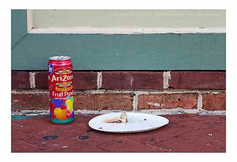 Can and crust in street