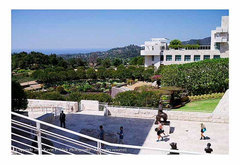 The Getty Museum courtyard