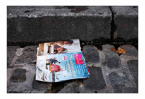 Magazine dropped in street