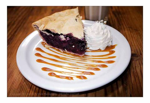 Piece of blueberry pie from Republic of Pie