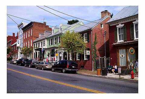 Street scene in Shepherdstown, WVa