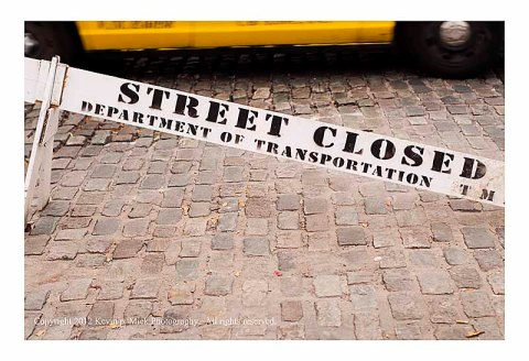 Street Closed barrier