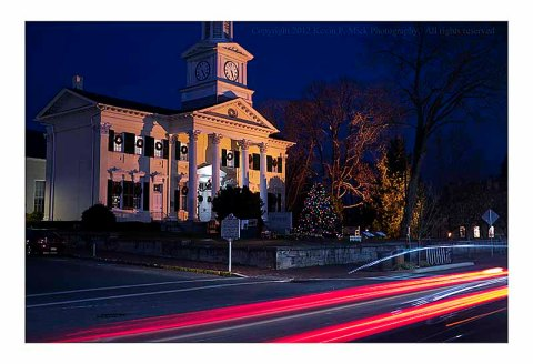 Shepherdstown University at night.