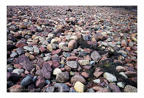 Rocky beach in Perry, Maine.