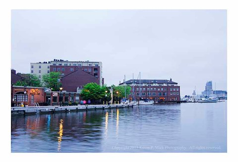 Fells Point on a foggy morning.