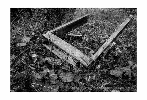 Abandoned saw horse.