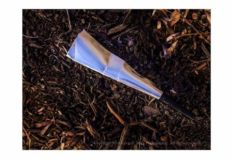 2014 discarded New Year's horn.