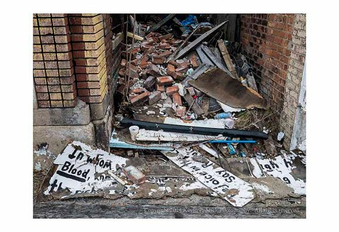 Some broken quotes from the burned out Bible Community Mission in Detroit, Michigan.