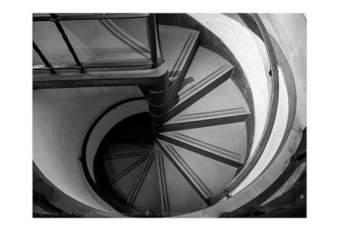 Spiral staircase in the Detroit Institure of Art.