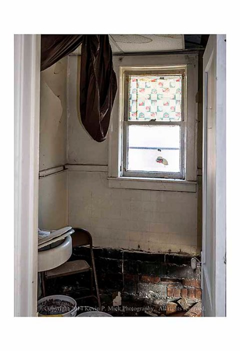 Apartment bathroom under rehab.