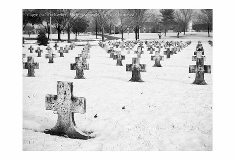 BW photograph of the Seton Cemetary.