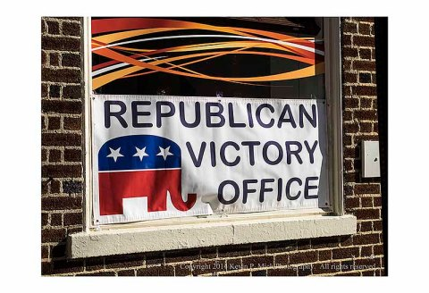 "Sign advertising ""Republican Victory Office"" in Winchester, Va."