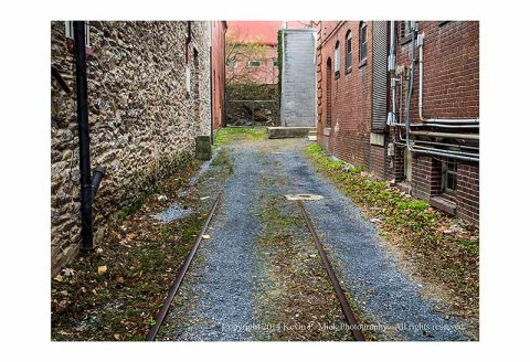 Dead-end alley in Frederick, Maryland.