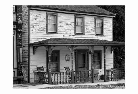 BW photograph of Whiteoak House in Chesapeake City, MD.
