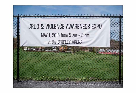"Banner advertising a ""Drug and Violence Awareness Expo"""