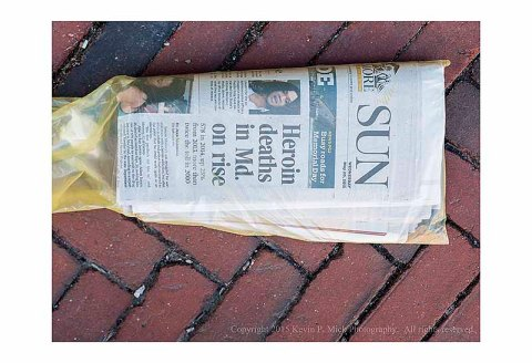 "The Baltimore Sun ""Heroin Deaths"" headline"