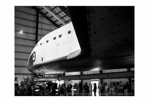 BE photograph of the space shuttle Endeavour as displayed at the California Science Center.