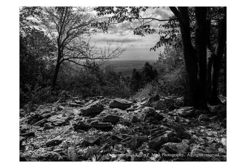 BW photograph of Thurmont Vista from an elevated position.