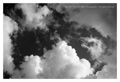BW photograph of clouds.