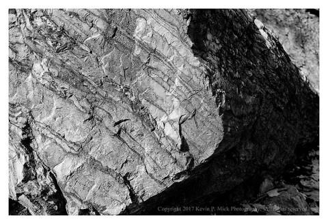BW photograph of large rocks in Shepardstown, WVa.