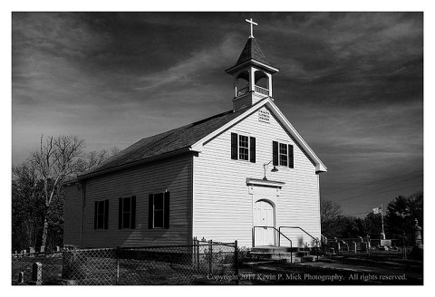 BW photograph of Trinity Lutheran Church.