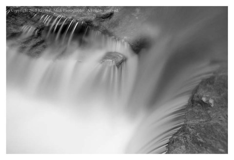 BW photograph of Morgan Run the day after heavy rain.