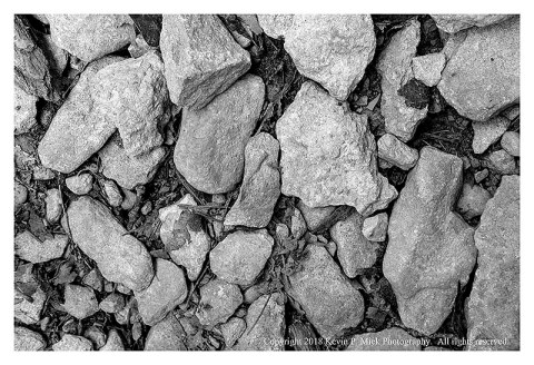 BS photograph of loose rocks on a hiking trail looking straight down.