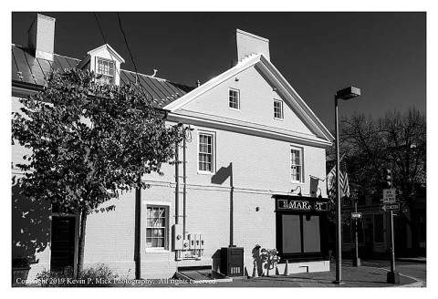 BW photograph of a newly renovated building.
