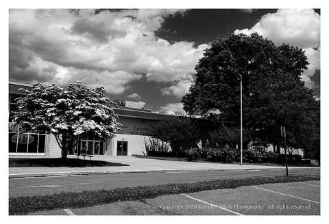 BW photograph of Catoctin High School.